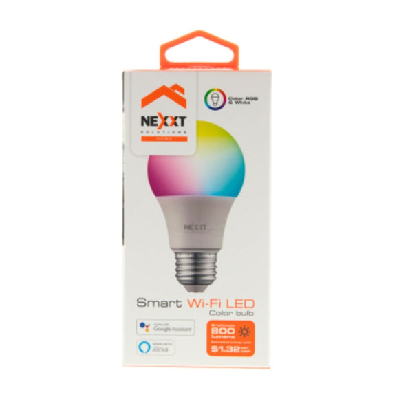 Foco Smart LED marca Nexxt - Luz de Colores