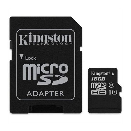 Memorias Kingston Tarjeta microSD, SDCS2/32GB/128GB Class 10 con Adaptador SD