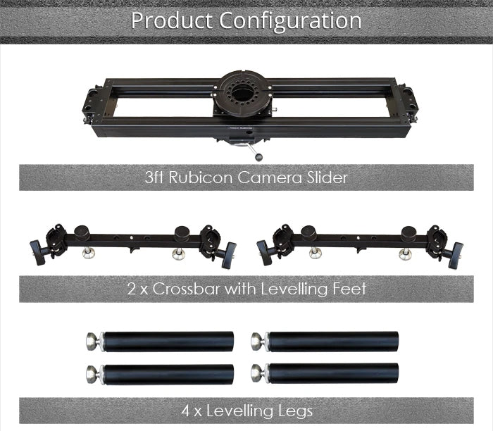 Proaim 3ft Rubicon Slider Kit Include