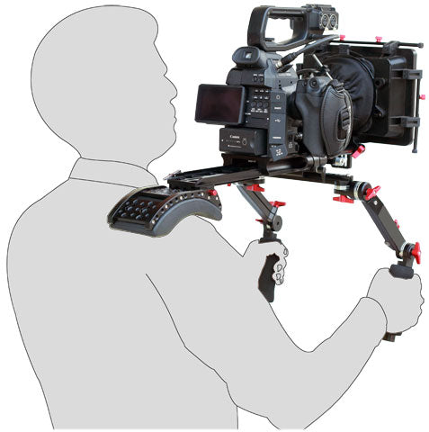 Digital Camera Shoulder Rig with Cage