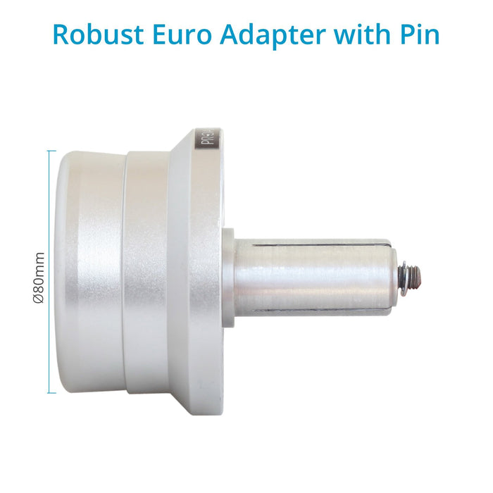 Proaim Euro/Elemac Adapter with Quick Connecting Pin (25mm)