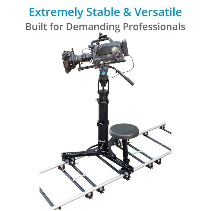 Proaim Miles Professional Video Camera Dolly System (300kg/660lb)