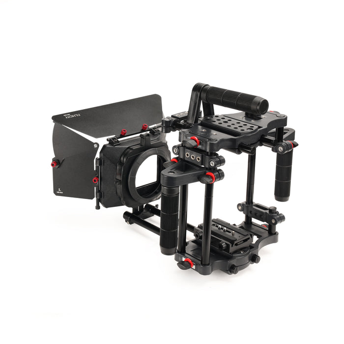 Filmcity Power DSLR Camera Cage with MB-600 Sunshade Matte Box Combo Kit