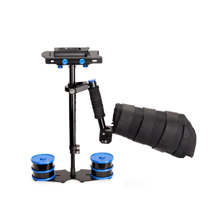 Flycam DSLR Nano Blue Handheld Camera Stabilizer with Arm Brace Support