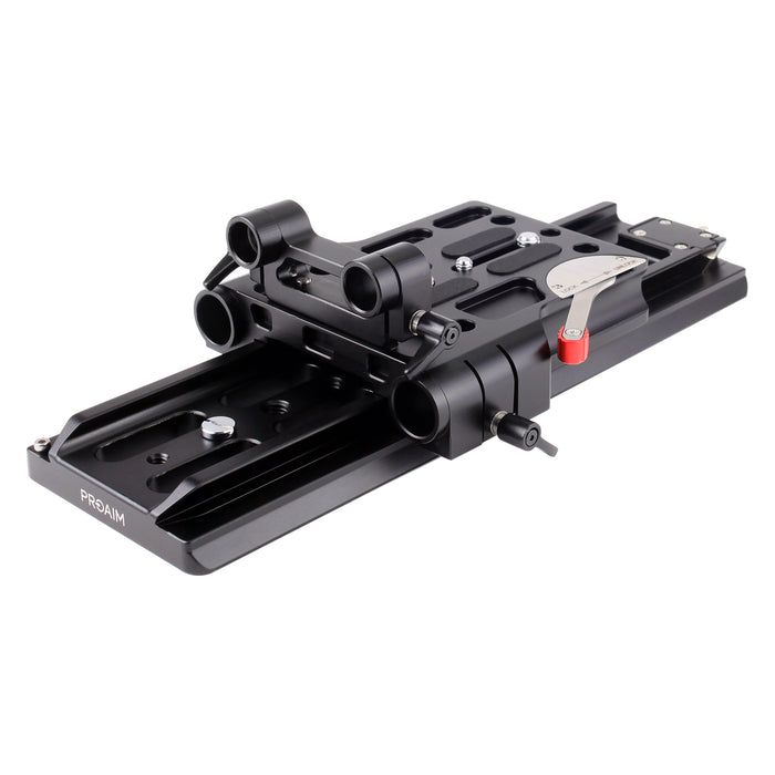 Proaim 19-15mm Camera Base Plate with Dovetail Tripod Plate (ARRI Standard)