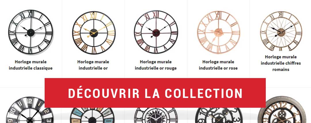 collection horloge murale industrielle