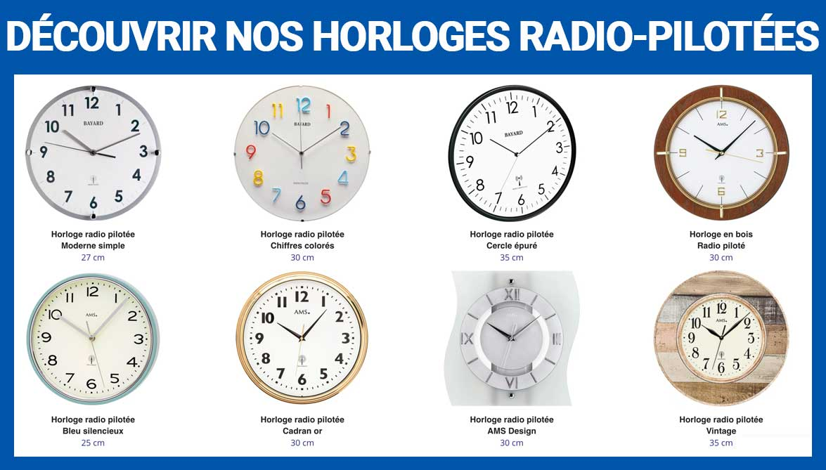 collection horloge radio pilotées