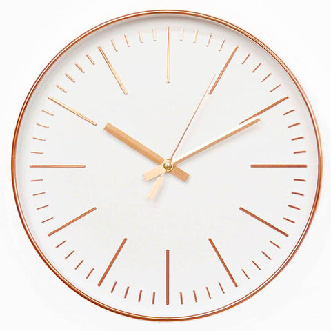 Horloge Murale Design rose gold