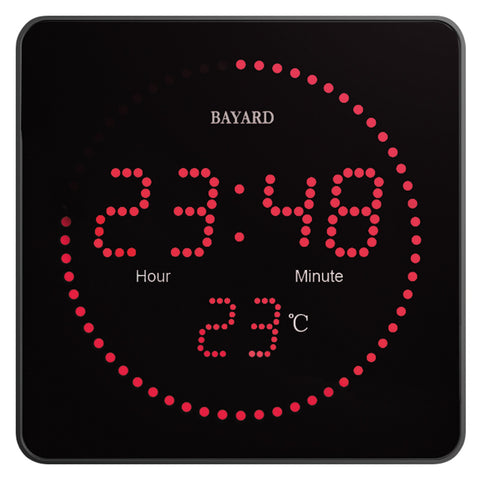 Horloge digitale LED rouge