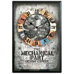 Horloge engrenage industriel