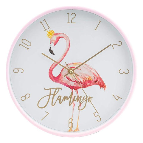 Horloge flamant rose