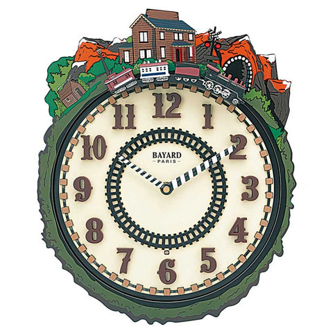 Horloge train animée
