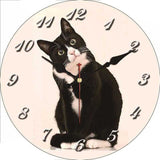 horloge originale chat noir retro