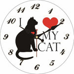 horloge originale chat noir
