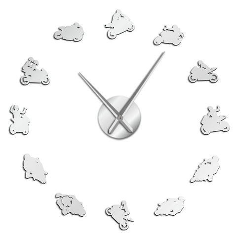 Horloge stickers Grand prix moto