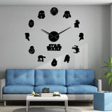 Horloge stickers star wars