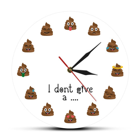 horloge murale originale I don't give a ...
