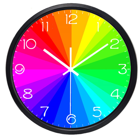 horloge murale design couleur