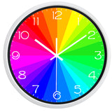 horloge design colorée