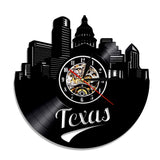 Horloge murale vinyle Texas (option LED)