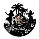Horloge murale vinyle Hawaii (option LED)