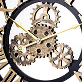 horloge engrenages or