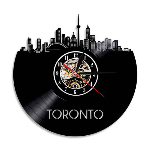 Horloge murale vinyle Toronto (option LED)