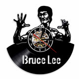 Horloge murale vinyle Bruce Lee (option LED)