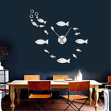 Horloge stickers poissons