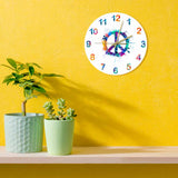 Horloge peace & love multicolore