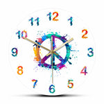 Horloge murale originale peace & love