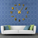 Horloge stickers salon dentiste