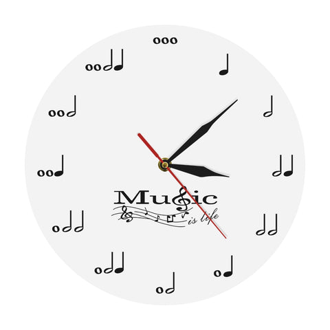 Horloge murale originale Notes de musique
