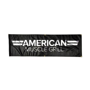 American Muscle Grill 3x5 Black Banner