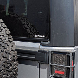 Summerset LET'S GRILL Car Sticker