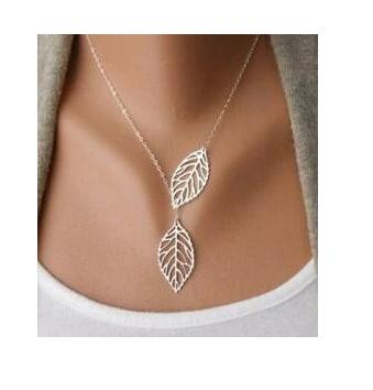 The Marshall - Two Leaf Female Jewelry Necklace for Women - Female Fashion Jewelry
