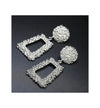 The Marshall- Silver Vintage Metal Geometric Statement Earrings Set for Women