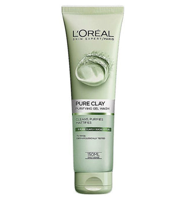 L'Oreal Paris Pure Clay Eucalyptus Purifying Face Wash Green 150 ml