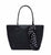 Bershka- Black Faux saffiano bag with polka dot scarf For Women