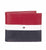 Tommy Hilfiger- Red/Navy Men's RFID Blocking 100% Leather Passcase Wallet