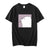 Wf Store- Bear Shy Printed Half Sleeves Tee - Black