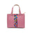 Astore- Pink Aztec Stripped Handbag by Astore priced at #price# | Bagallery Deals