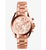 Michael Kors- Oversized Bradshaw Women's Rose Gold Dial Stainless Steel Band Watch - MK5503