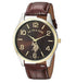 U.s. Polo Assn- Brown Faux Leather Strap Watch For Men USC50225AZ