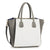 Silk Avenue - LS0061B - Grey /White Fashion Tote Bag (Shiny Finish)