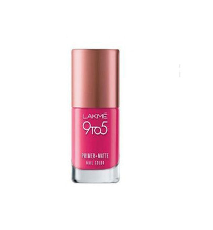 Lakme- 9to5 Primer+Matt Nails- Magenta Matte, 9ml (10065) by Brands Unlimited PVT priced at #price# | Bagallery Deals