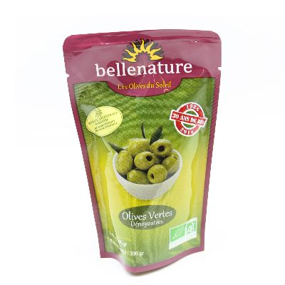 Olives Vertes Denoyautees 100 G Bellenature