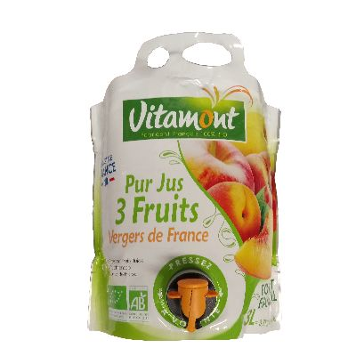 Jus 3 Fruits Des Vergers De France 3 L