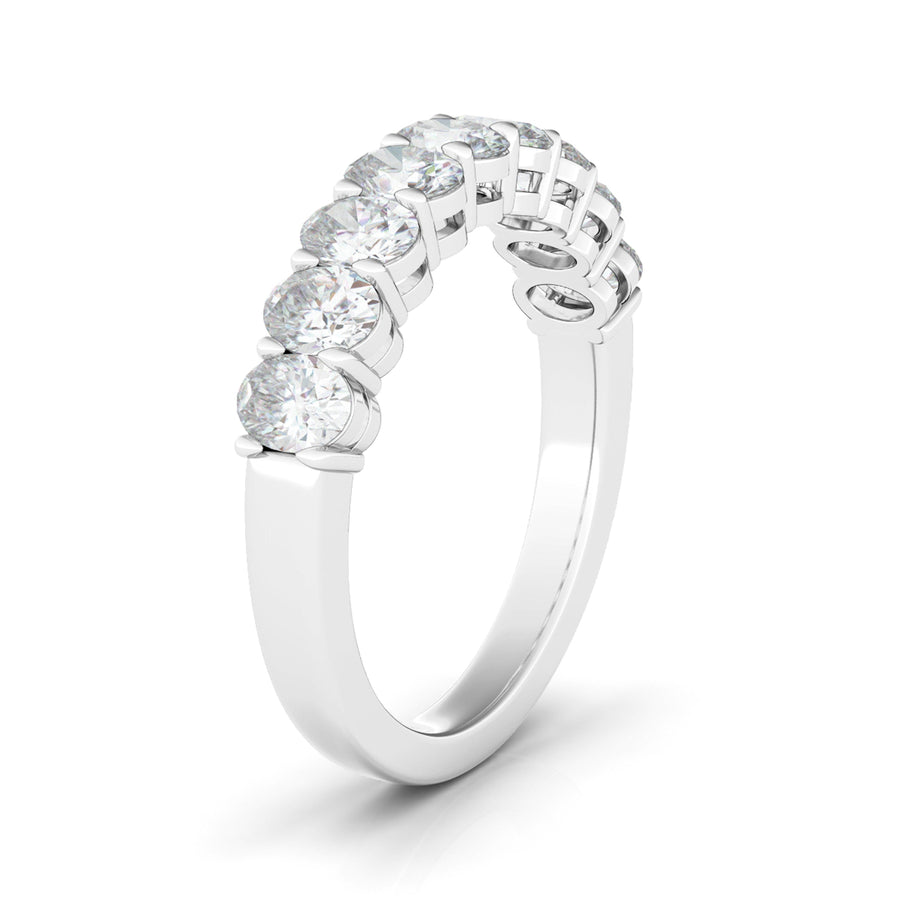 Half Oval Eternity Ring