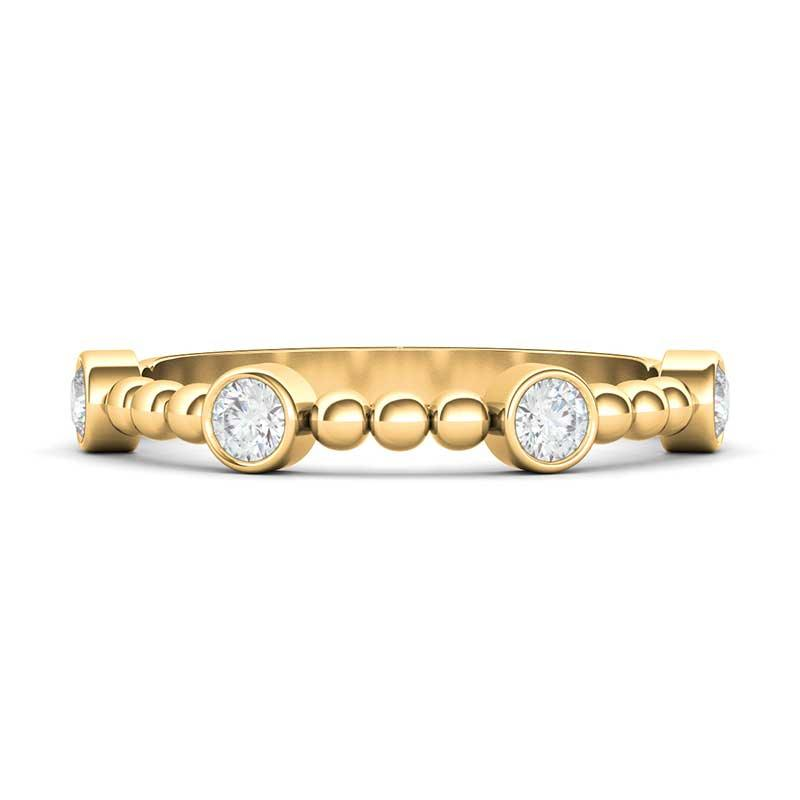 4 Bezel Distance Diamond Ring